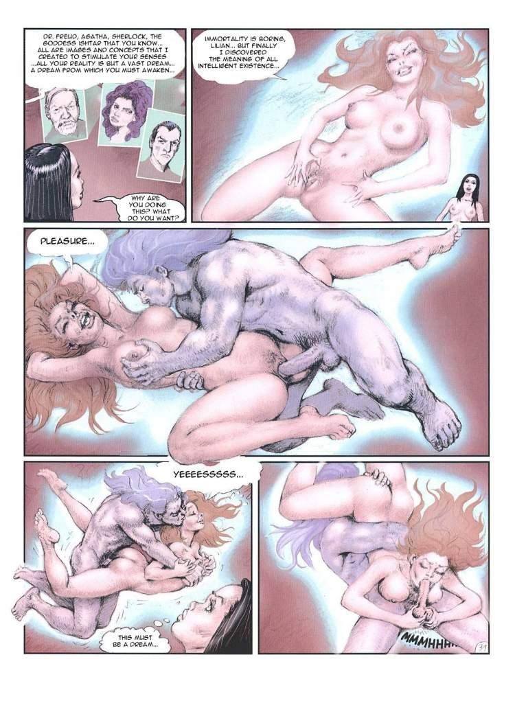 Порно комикс сонник